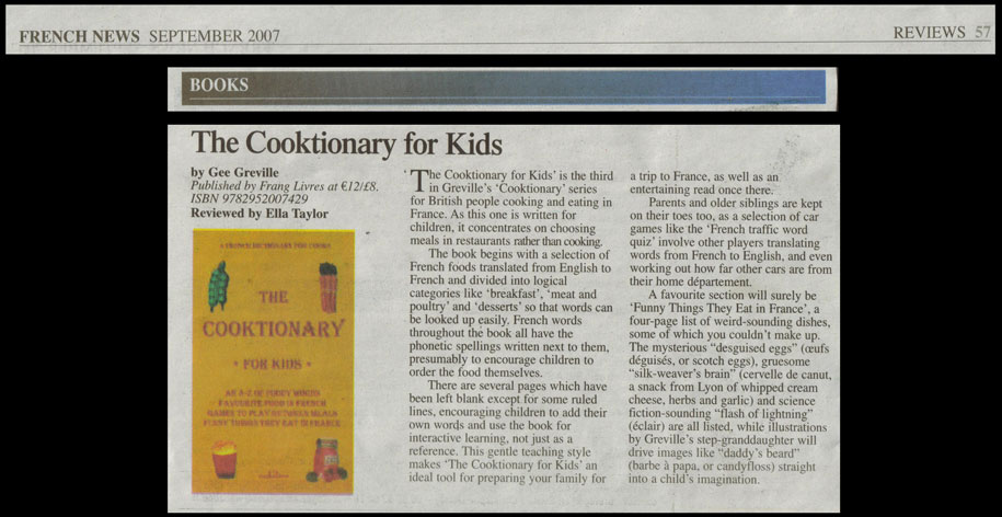 French News Cooktionary for Kids