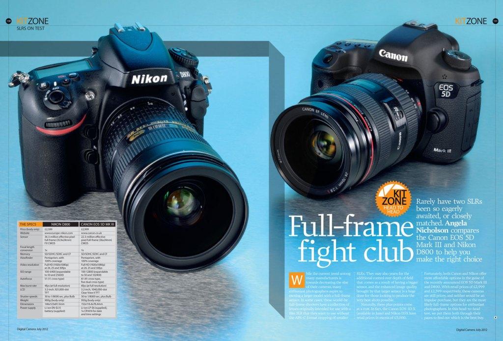 Issue 127 Nikon D800 vs Canon 5D feature