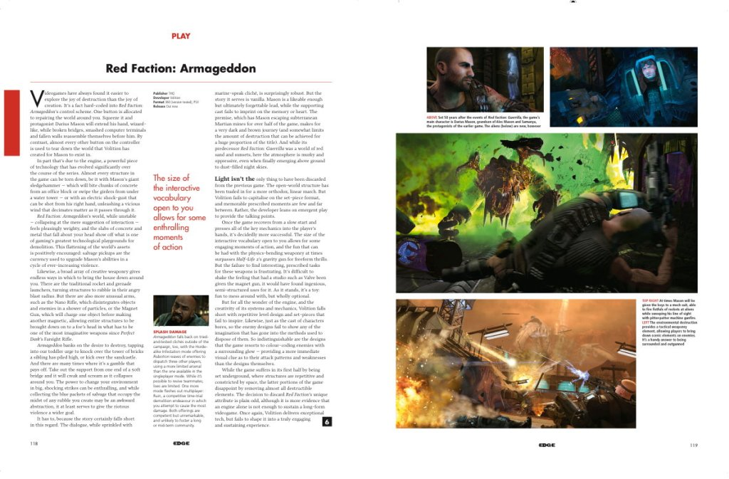 Issue 230 Red Faction: Armageddon