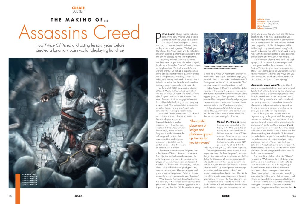 Issue 244 The Making of Assassins Creed
