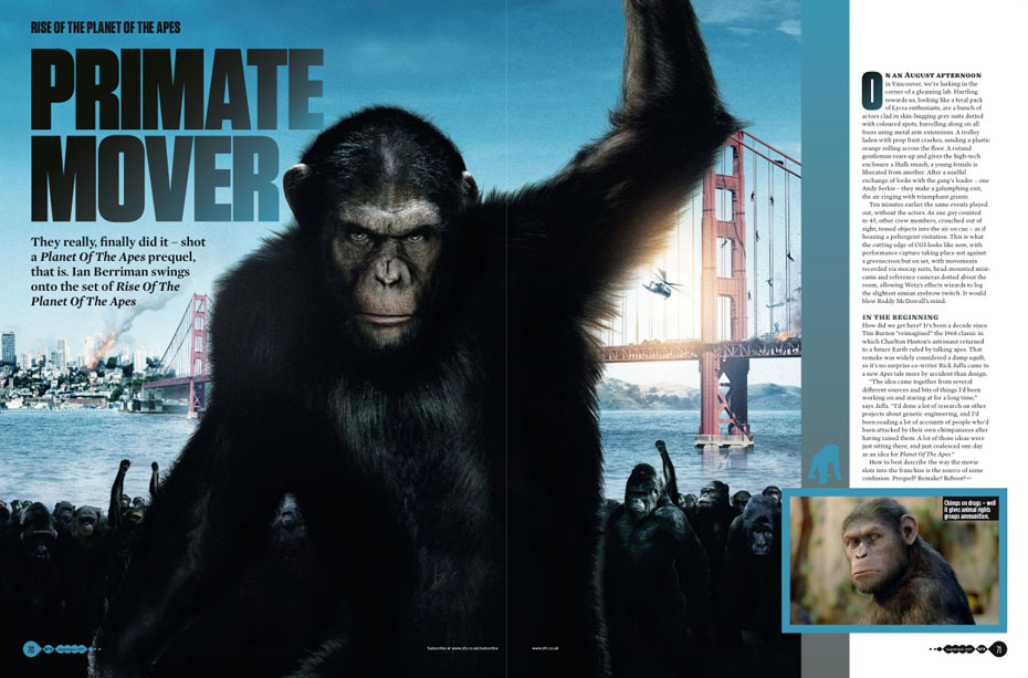 SFX issue 212 Rise of the Planet of the Apes