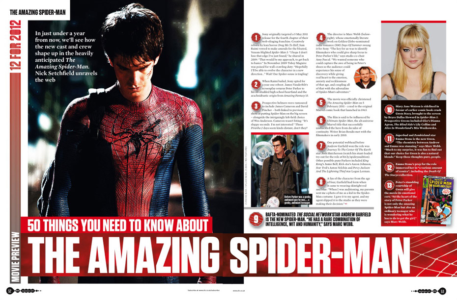 SFX issue 212 Spider-Man