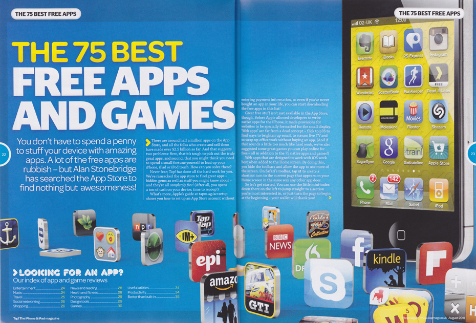 Tap issue 7: 75 best free apps and games