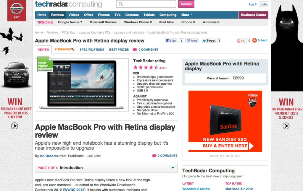 TechRadar MacBook Pro with Retina display review