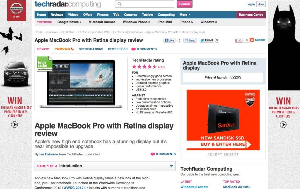 TechRadar MacBook Pro with Retina display review