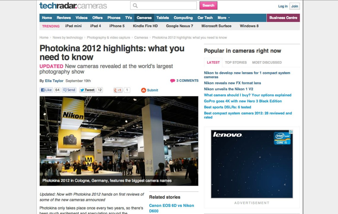 TechRadar Photokina 2012 roundup